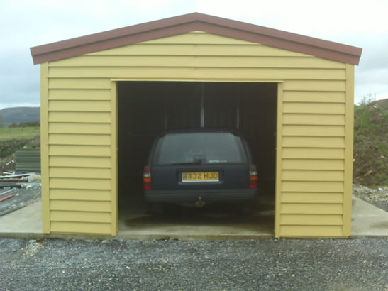 Steel Shiplap Garages
